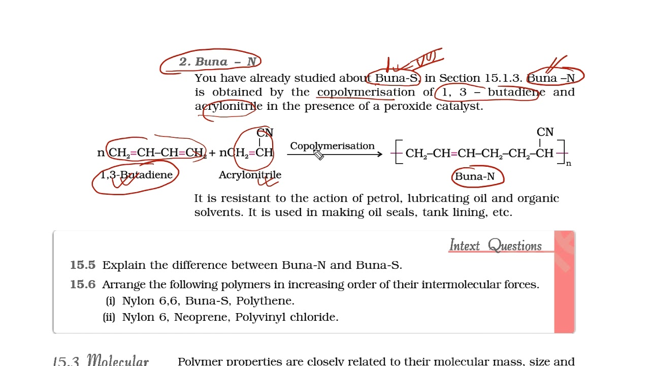 NCERT\CBSE class 12 chemistry chapter 15 Polymers part 9 Synthetic rubbers
