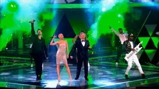 Repeat youtube video The Voice UK 2013 | The Voice UK Coaches sing 'Get Lucky' - The Live Final - BBC One