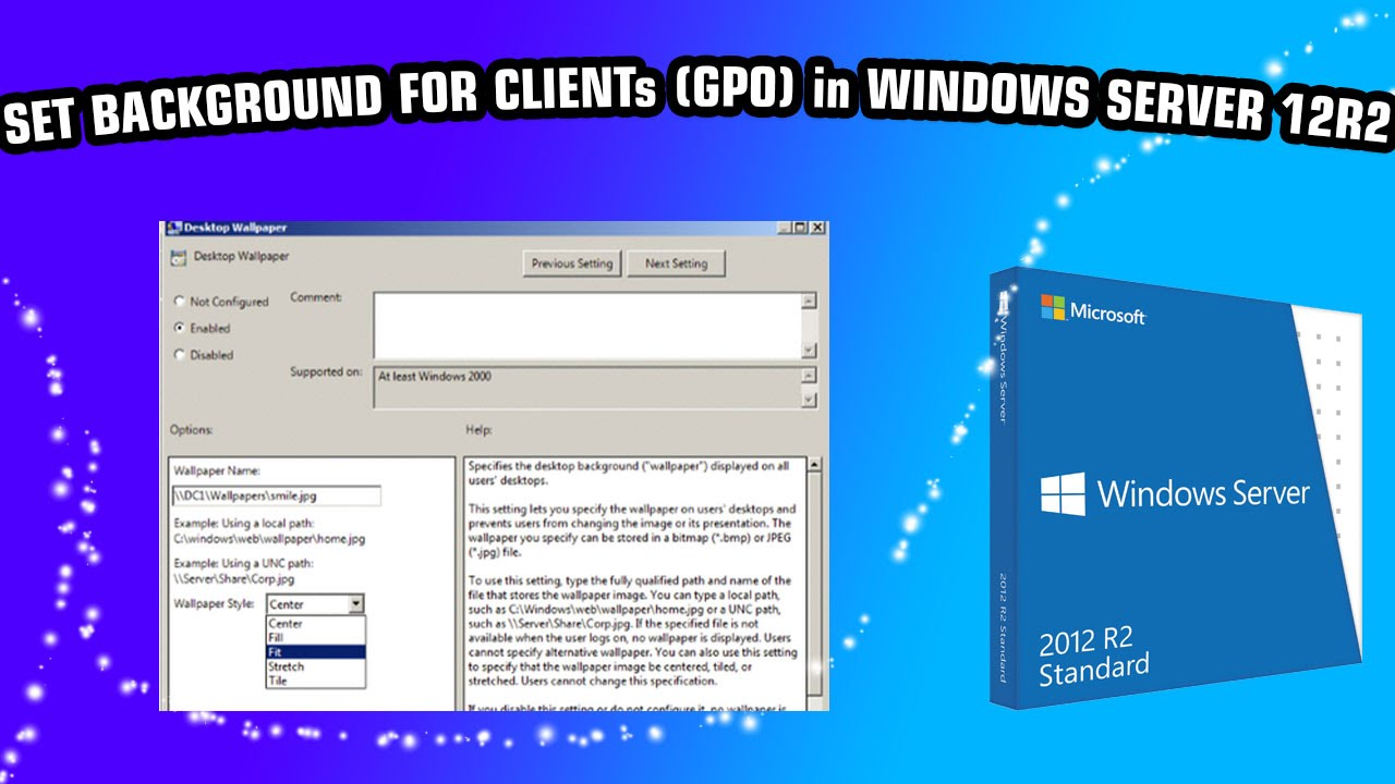 terminal services default wallpaper Here is how you can configure the group policy object (gpo) to enforce the  windows server 2012 client computers to use the desktop.