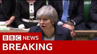Theresa May: 'Legal default remains no-deal' - BBC News