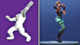 NEW LEAKED EMOTES EARLY GAMEPLAY! - Fortnite 'Zany Emote Gameplay' + 'The Dip Emote Gameplay' Leaked