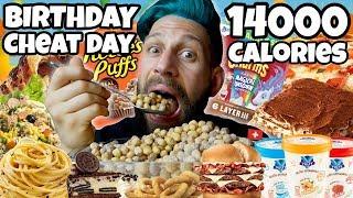 VLOG BIRTHDAY CHEAT DAY - SGARRO il giorno del mio COMPLEANNO - MAN VS FOOD