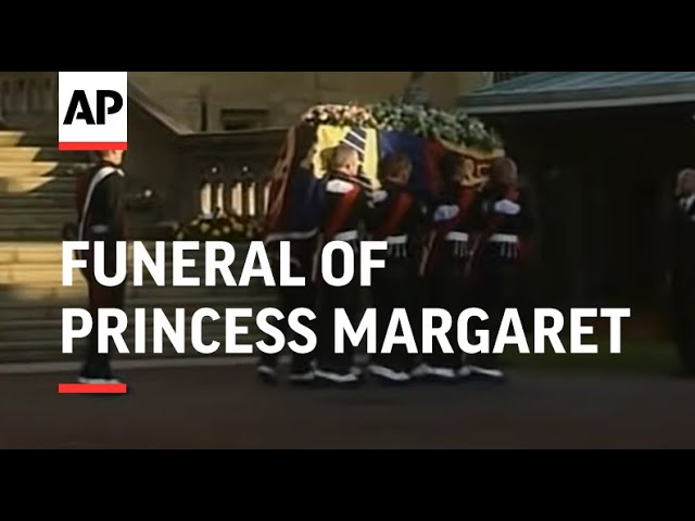 Royal Family At Funeral Of Princess Margaret 2002 Youtube