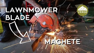 Blacksmithing a Machete from an Old Lawnmower Blade in a Homemade Forge | Start to Finish