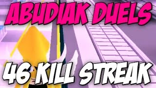ROBLOX | Abudiak Duelle *46 Kill Streak*