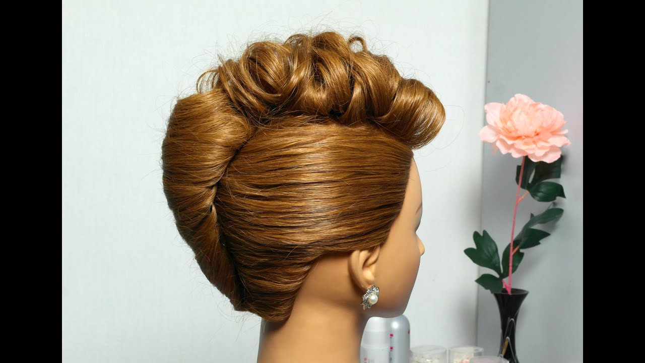 French Twist Hairstyle For Medium Hair. Prom Updo Tutorial