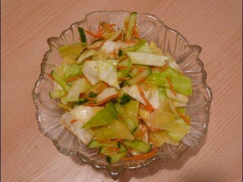 Капустный салат с бурым рисом, курицей и вишней рецепт