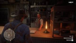 Red Dead Redemption 2 (PS4) - Rhodes Shopkeeper Comments on Sadie's Outfit