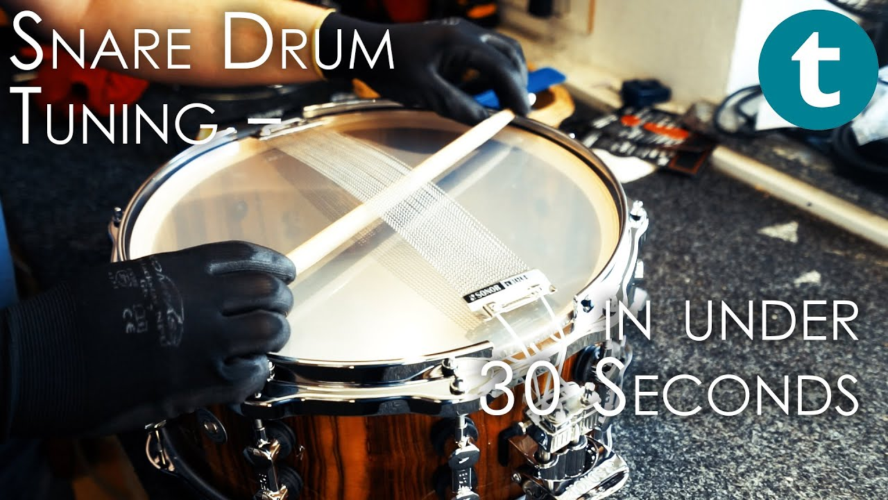 Snare Drum Tuning Tips | In 30 Seconds Or Less | Thomann ...