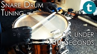 Snare Drum Tuning Tips - in 30 seconds or less