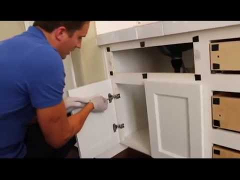 Cabinet Refacing- change a partial overlay cabinet door into full overlay style - YouTube & Cabinet Refacing- change a partial overlay cabinet door into full ... Pezcame.Com
