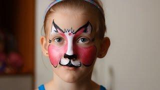 Аквагрим мастер класс кошка. Face painting tutorial  cat.