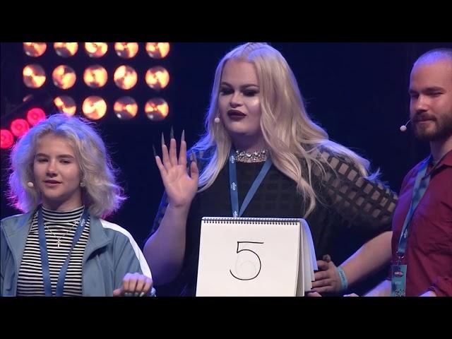 Tubecon 2017 tietokilpailu - Pinkku Pinsku, Henry Harjusola, Glyffi, Elisa Malik, Nova, Mauton