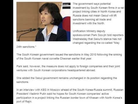 Seoul's Sanctions Continue Despite Investment in N  Korea Russia Railway