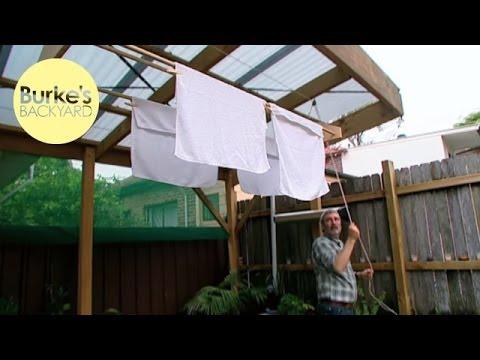 Burke S Backyard How To Make A Modern Clothesline Youtube