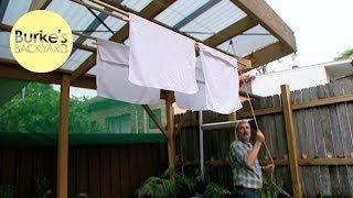 Burke's Backyard, How To Make a Modern Clothesline