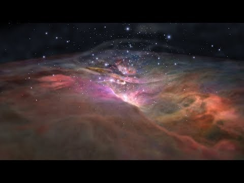Flight Through the Orion Nebula in Visible Light