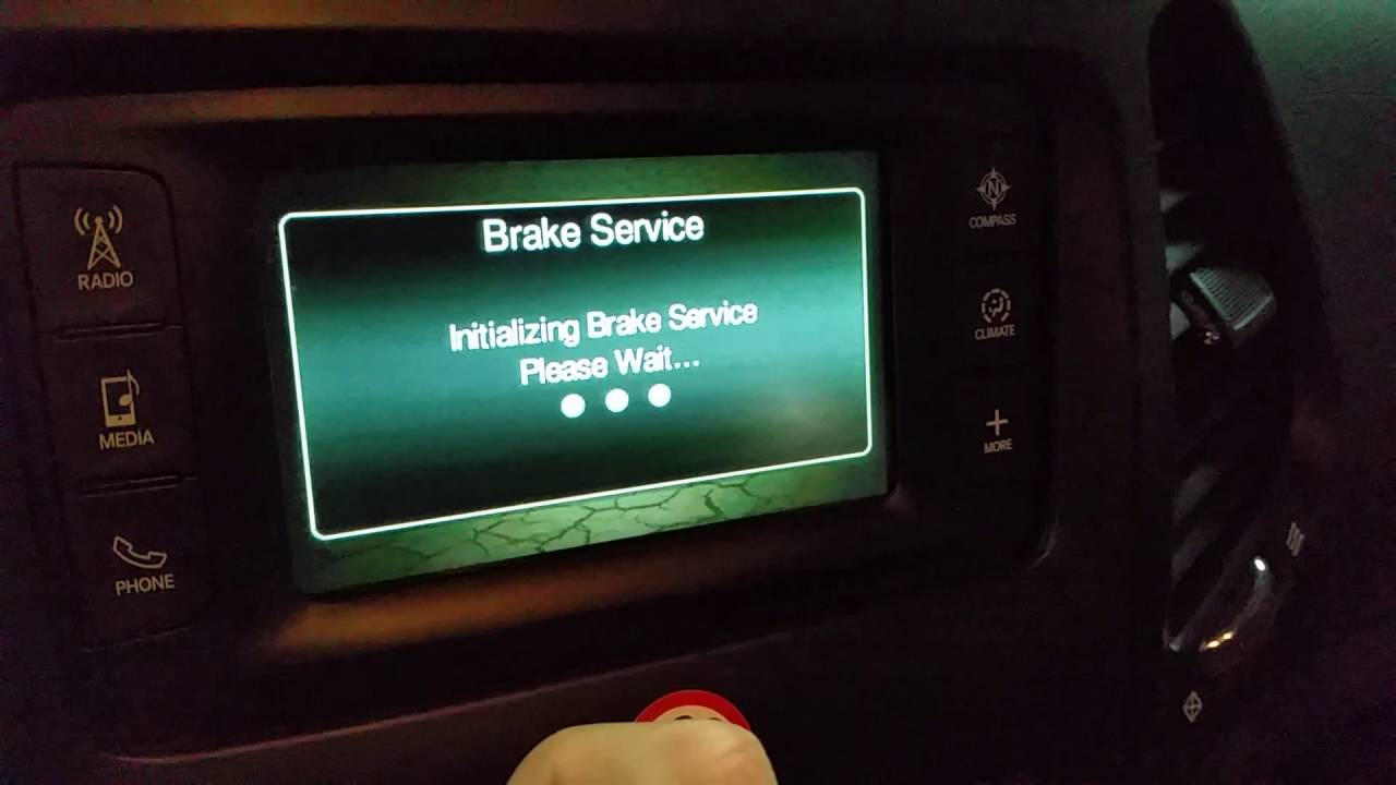 2017 2018 Jeep Cherokee Retract Parking Brake To Change Rear Pads How Guide You