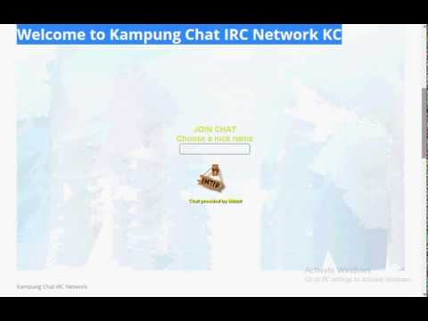 FREE Kampung Chat Rooms Without Registration - #1 KampungChat IRC Network