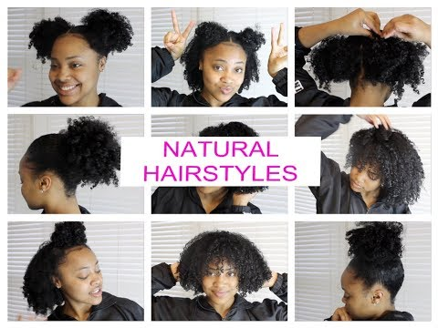8 Quick & Easy Natural Hairstyles