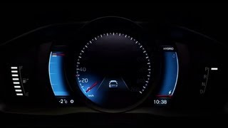 The Adaptive Digital Display In The New V60 Plug-in Hybrid