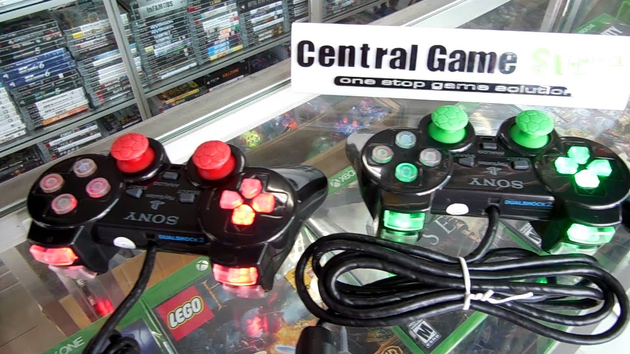 Stik PS2 TW Hitam Casing Gilap Semua Tombol Lampu R1 R2 Kabel Ori ...