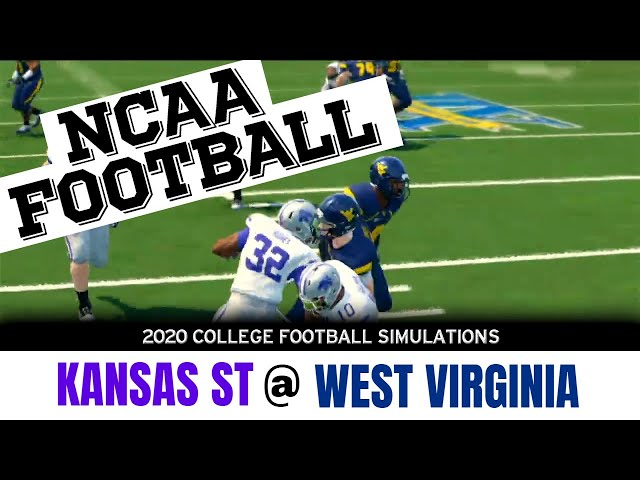 Kansas St vs West Virginia 2020 NCAA Football Simulation