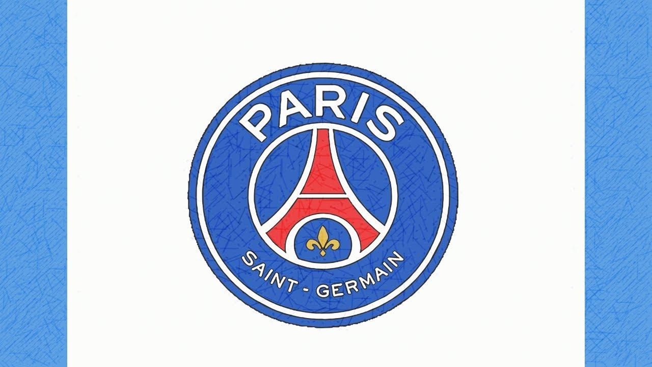 Como Dibujar El Escudo Del Psg Paris Saint Germain Youtube