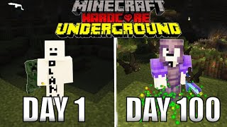 I Survived 100 Days In A Cave In Minecraft Hardcore Mode And Here's What Happened...