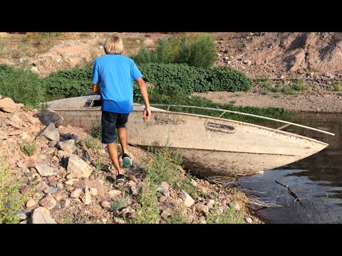 Sunken Boat Exposed Due To Drop in Water Level #2