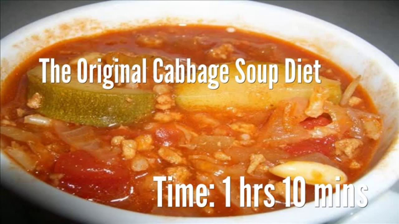 The Original Cabbage Soup Diet Recipe - YouTube