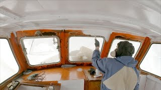 Heavy Interior Works on our Steel Boat - Week 28 - Vintage Yacht Restoration Vlog