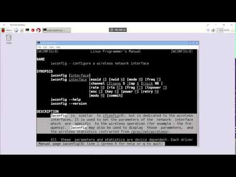 Display WiFi config using Linux command iwconfig