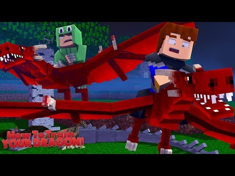 WE FOUND A NEW RARE BREED OF DRAGON - Minecraft HOW TO TRAIN YOUR DRAGON