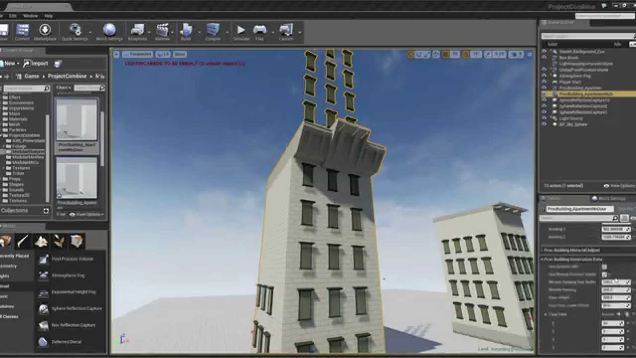 VIDEO] Semi Automated Procedural building system in Unreal