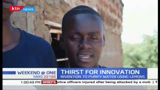 Thirst for innovation : Invention to purify water using lemons