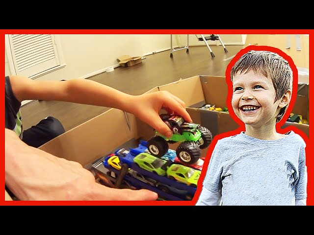 Toy Monster Truck Arena With Cardboard Youtube