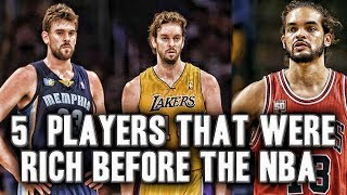 5 NBA Players That Were Rich Before The NBA