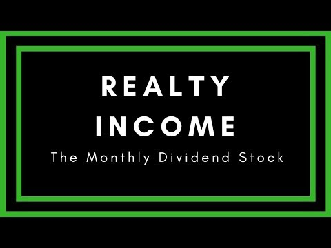 Realty Income Stock Review - The Monthly Dividend Stock