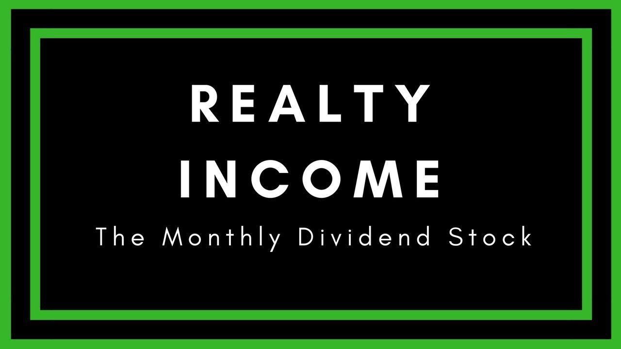 Realty Income Stock Review The Monthly Dividend Stock Youtube