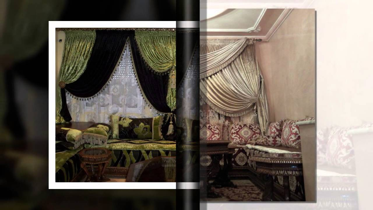 double rideau fen tre marocain youtube. Black Bedroom Furniture Sets. Home Design Ideas