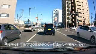 札幌のDQNが道路をふさいでタクシーに絡む動画  Stupid Driver & Road Rage