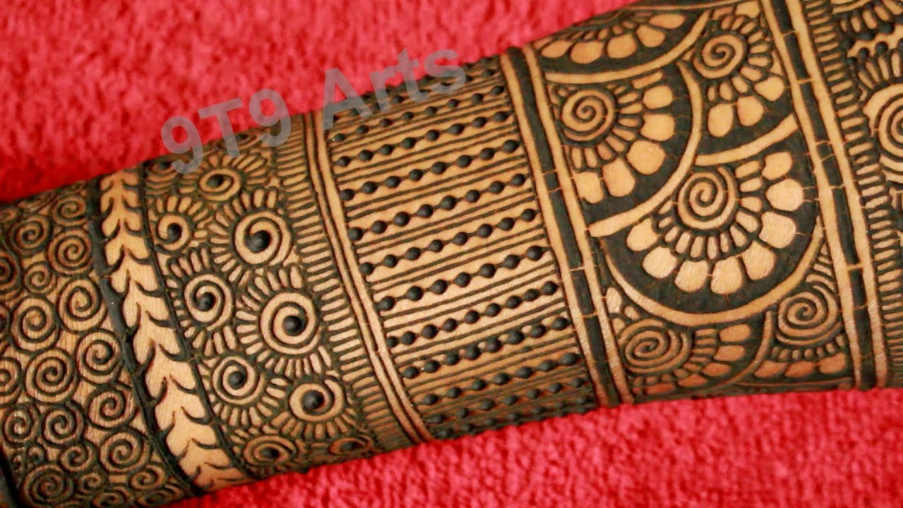 simple mehndi design images full hand