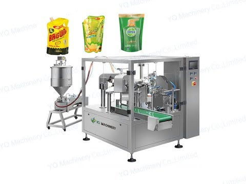 Stand Up Pouch Filling And Sealing Machine For Edible Oil Bag Packaging Equipment