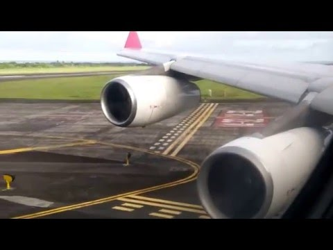 AMAZING Bussines Class HD Take-Off Mauritius A340