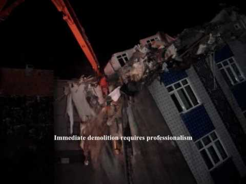 MTKA DEMOLITION - IMMEDIATE DEMOLITOIN OF A SLANTING BUILDING - 16 Hours