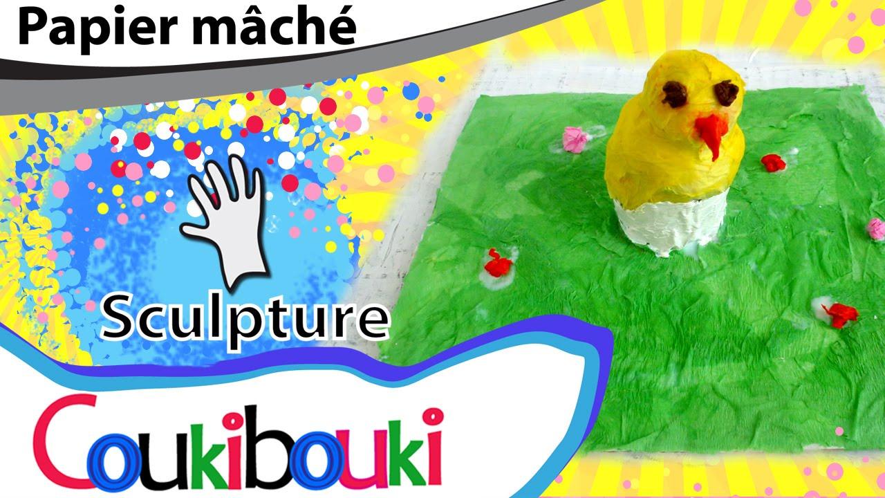 poussin de p ques en papier m ch par coukibouki comment faire easter chick paper mache. Black Bedroom Furniture Sets. Home Design Ideas