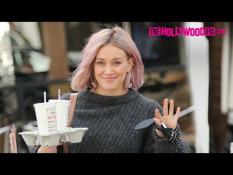 Hilary Duff Sports New Purple Hair While Out Toy Shopping In Beverly Hills 1.22.16 thumbnail