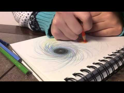 Time Lapse Black Hole Drawing - YouTube