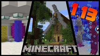 How to use the New 1.13 MINECRAFT Blocks - Building Tips and Tricks